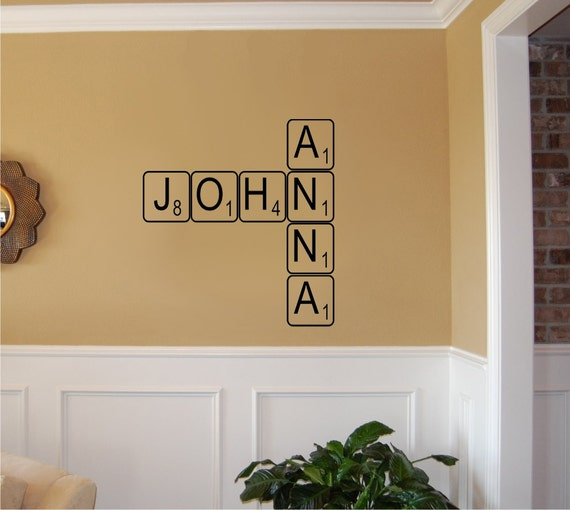 Create your own Scrabble letters Vinyl Wall by imprinteddecals