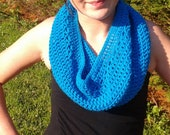 Turquoise Infinity Cowl Scarf