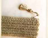 Golden Crochet Pencil Case