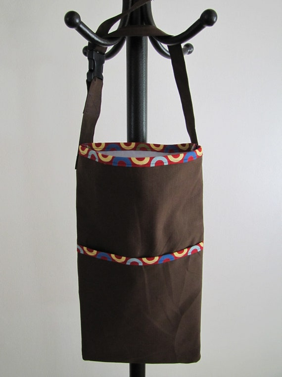 Brown and Polka Dot Car Trash Bag