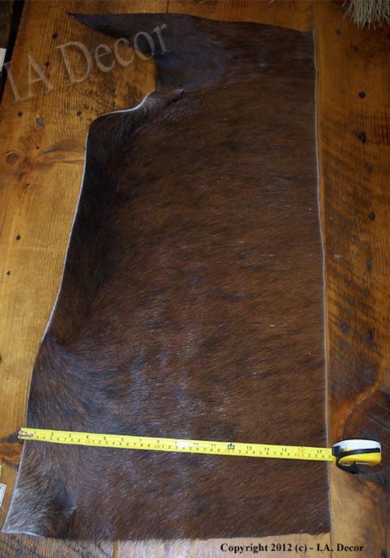 Hair on Hide Remnant - partial hide - Brindle - dark Brindle cow hide leather hide - H2