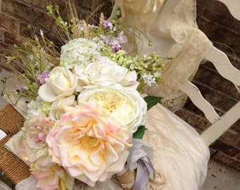 Custom Order for a Country French Bridal Bouquet