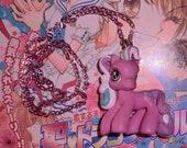 My Little Pony necklace kawaii cute kitsch lolita fairy kei decora sweet pink
