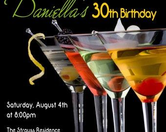 Martini Party - Martini Night Invitation - Martini Invitation - Girls Martini Night Invite