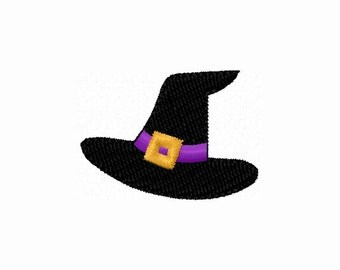 Halloween Mini Witch Hat Stitches Machine Embroidery Design NO:1191