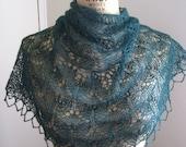 Oriel Leaf Lace Alpaca and Silk Hand Knit Shawl