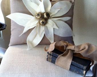 Popular Items For Burlap Poinsettia On Etsy