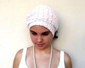 Scarf, Headband, Headscarf  Dusty Pink Thin Frilly Lace