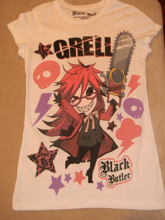 Black Butler Grell T-Shirt - With added Lace