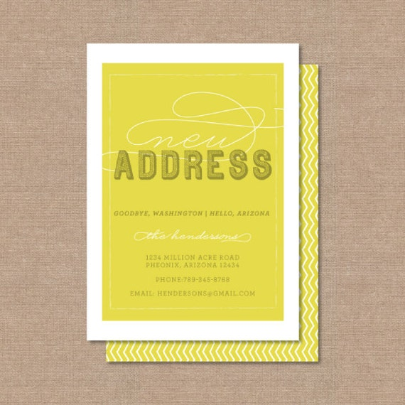 """New Address Moving Announcement """"DIGITAL PRINTABLE FILE"""""""