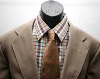 Vintage Men's Jacket Light Brown Tan Beige Retro Blazer Size 42
