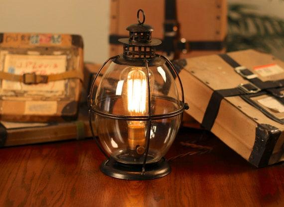 Edison Lamp Vintage Lantern Table Lamp Rustic Industrial