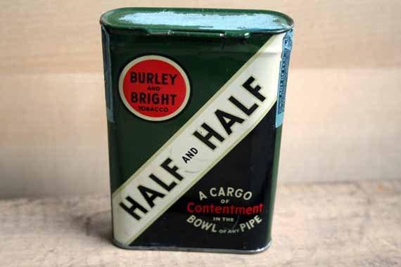 Vintage Half and Half Tobacco Tin