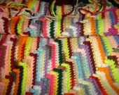 multi-colored long table runner or rug