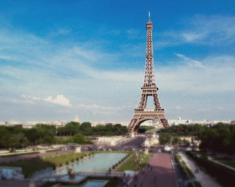Dreamy Eiffel Tower Paris France 8x10 Fine Art Print