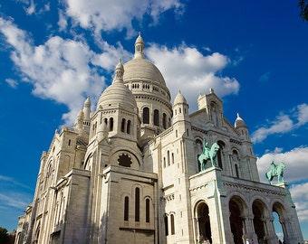 The Montmartre Blue Sky Paris France Fine Art Print Photo