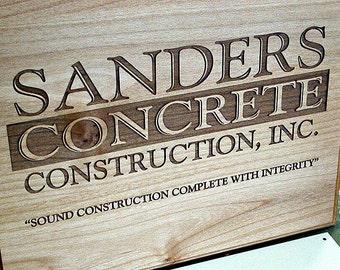 "Alder Wood Plaque SIGN - 9"" x 12"""