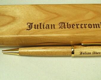 Personalized Pen Box & Pen