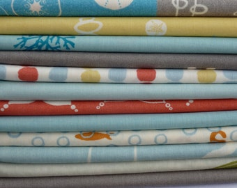 Storyboek Two for Birch Organic Fabrics One 13 piece Fat Quarter Bundle