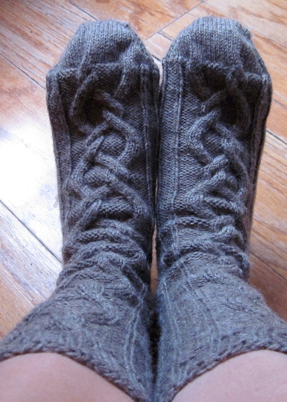Women's Knit Socks (with cables)