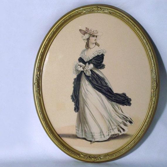 Vintage fashion print /  home decor wall hanging / boudoir art / Victorian lady