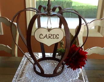 """Rustic Wedding """"Cards"""" Sign."""