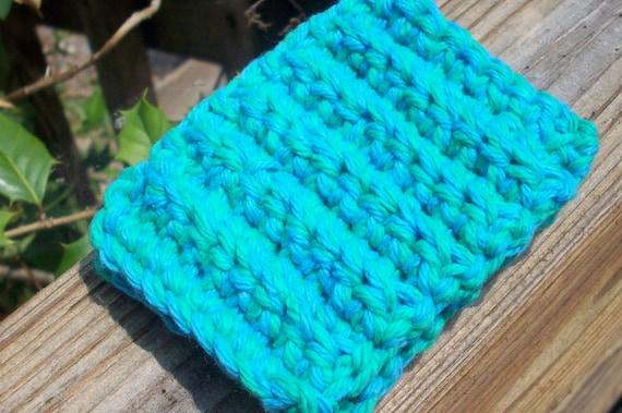 SALE Eco Tawashi Kitchen Sponge - Set of Two - Blue & Green - Cotton