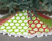 Christmas Tree Skirt - Mixed Multi-Panel-Holiday Decor- Trim A Tree-Polka Dots-Home Decor - TheSassyGator