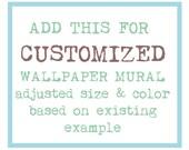 Customized wallpaper murals - special offer