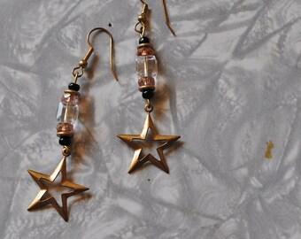 Crystal cube star earrings*