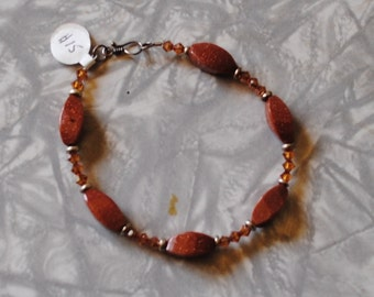 Goldstone copper bracelet (#1)