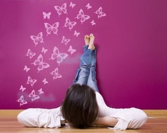 Wall Decal wall sticker kids wall decal nursery vinyl decals-Butterfly Decal
