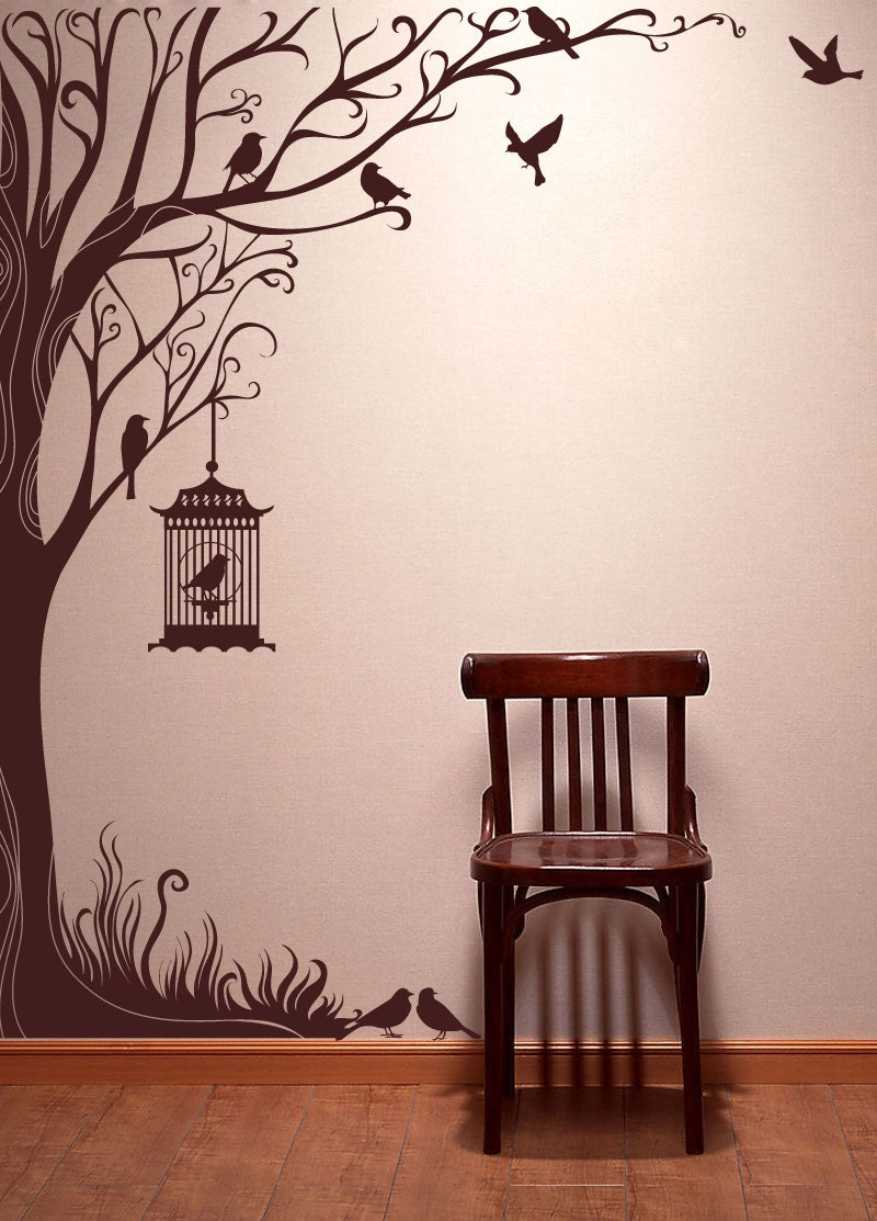 Tree Decal Wall Stickers Nature Decals Home Decor 98 By