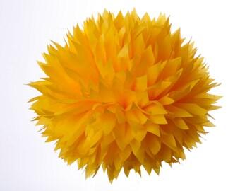 Bright yellow 1 Large tissue paper pom poms