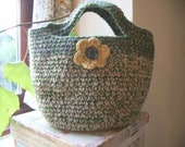 Cute Crocheted Flower Bag
