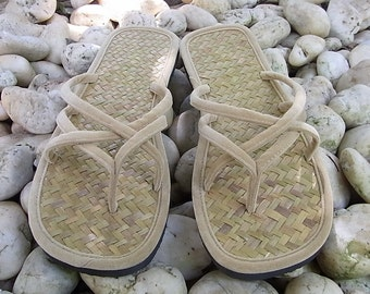 Woman's Size 12 Thai Thong Bamboo Sandal  (SD091_12)