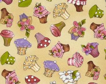 Hey Cupcake - Fabric By The Half Yard 18 inches x 44 inches