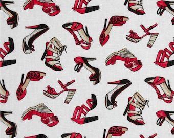 Fierce Red Shoes - Fabric By The Yard