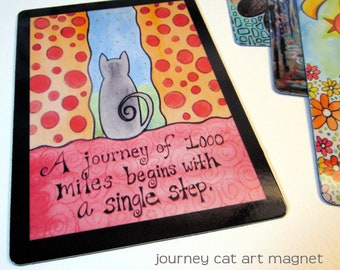 "Art Magnet Journey Cat 3.5"" x 5"""