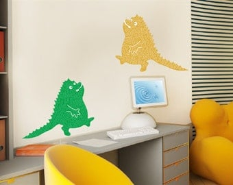 Nursery wall decal, monsters wall decal, baby nursery wall decal, wall sticker for kids, nursery decal, children wall decal