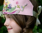 Waldorf Birthday Crown - organic - plant dyed wool felt - Fairy Princess