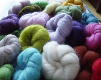 32 Colours - wools,  400 grams of Soft felting wool fibre, Great gift idea