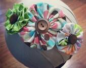 Beautiful Fabric Flower Headband