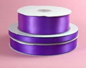 Double-Face Purple Satin Ribbon -- 1 1/2 inches wide (1 Yard)
