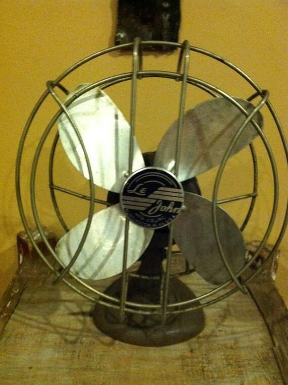 Vintage Le John Desk Fan