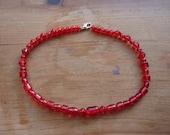 Red bead choker