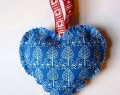 Blue heart lavender bag
