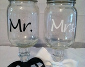 Personalized redneck wine glasses, mason jar wine glasses