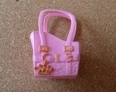 Barbie Accessories Lovely Crow Simulation Plastic Pink Color Handbag
