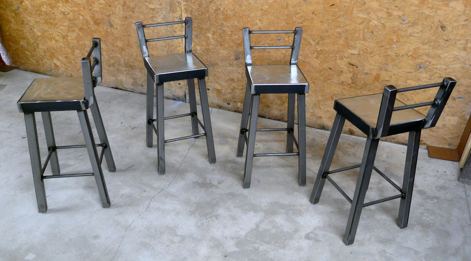 Industrial Steel Bar Stool No002 By ModernIndustrial On Etsy